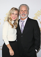 PASADENA, CA - FEBRUARY 9: Lily Anne Harrison, Gregory Harrison, at the Hallmark Channel and Hallmark Movies &amp; Mysteries Winter 2019 TCA at Tournament House in Pasadena, California on February 9, 2019. <br /> CAP/MPI/FS<br /> &copy;FS/MPI/Capital Pictures