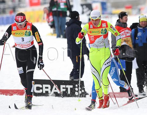 02 01 2010  Ski Nordic FIS WC Oberhof Tour de Ski Oberhof Germany 02 Jan 10 Ski Nordic Cross-country skiing FIS World Cup Tour de Ski 10km classic women Picture shows Justyna Kowalczyk POL and Petra Majdic SLO .
