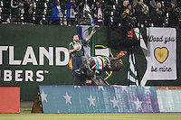 Portland, Oregon - Wednesday, February 15, 2017: Portland Timbers vs. Vancouver Whitecaps FC in a preseason match at Providence Park.  Final Score: Portland Timbers 2, Vancouver Whitecaps 1