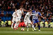 3rd February 2019, Santiago Bernabeu, Madrid, Spain; La Liga football, Real Madrid versus Alaves; Luka Modric (Real Madrid) shields the ball from Mubarak Wakaso (Deportivo Alaves)