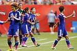 (L-R) Nahomi Kawasumi, Homare Sawa (JPN), JUNE 23, 2015 - Football / Soccer : <br /> FIFA Women's World Cup Canada 2015 round 16 match Japan 2-1 Netherlandss at BC Place, Vancouver, Canada. (Photo by Yusuke Nakanishi/AFLO SPORT)