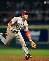 Utley, Chase 5700.jpg Philadelphia Phillies at Houston Astros. Major League Baseball. September 6th, 2009 at Minute Maid Park in Houston, Texas. Photo by Andrew Woolley.