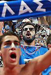 Sep 15, 2007 - Madrid, Spain - Greece supporters during semifinal match between Spain and Greece in Madrid. Spain beat Greece 82:77 and will play in final against Russia who beat Lithuania in second semifinal game of European championship in Spain.  (credit image: © Pedja Milosavljevic/ZUMA Press)