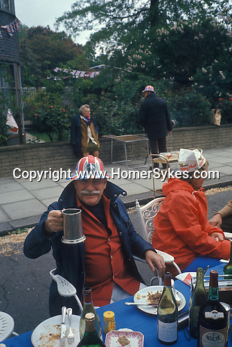 Silver Jubilee street party north London UK 1977 1970s.