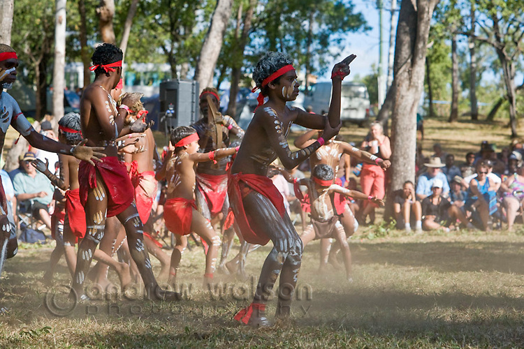 Indigenous dancers at the Laura Aboriginal Dance Festival.  Laura, Queensland, Australia