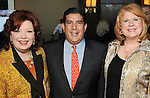 Angela Blanchard, John Hernandez and Joni Baird at the Heart of Gold Celebration benefitting Neighborhood Centers Inc at the Hilton Americas Hotel Thursday Feb. 25,2010. (Dave Rossman Photo)