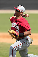 Indiana Hoosiers Micah Johnson #3 during a game vs UMass at Lake Myrtle Main Field in Auburndale, Florida;  March 16, 2011.  Indiana defeated UMass 11-10.  Photo By Mike Janes/Four Seam Images
