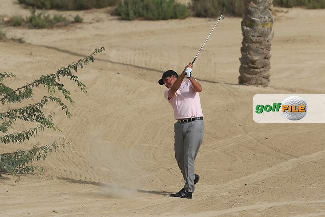 Jose Maria Olazabal (ESP) on the 8th during Round 2 of the Omega Dubai Desert Classic, Emirates Golf Club, Dubai,  United Arab Emirates. 25/01/2019<br /> Picture: Golffile | Thos Caffrey<br /> <br /> <br /> All photo usage must carry mandatory copyright credit (&copy; Golffile | Thos Caffrey)