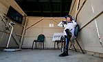 September 7, 2019 : Jockey Channing Hill gets ready for the first race during racing at Kentucky Downs in Franklin, Kentucky. Scott Serio/Eclipse Sportswire/CSM