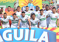 IBAGUÉ-COLOMBIA , 10 -11-2018 .Formación de Patriotas Boyacá ante el Deportes Tolima   durante partido por la fecha 19 de la Liga Águila II 2018 jugado en el estadio Manuel Murillo Toro de la ciudad de Ibagué./ Team of Patriotas Boyaca agaisnt of Deportes Tolima  during the match for the date 19 of the Aguila League II 2018 played at Manuel Murillo Toro  stadium in Ibague city. Photo: VizzorImage/ Juan Carlos Escobar / Contribuidor