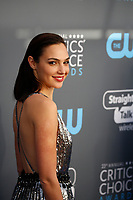 Gal Gadot attends the 23rd Annual Critics' Choice Awards at Barker Hangar in Santa Monica, Los Angeles, USA, on 11 January 2018. Photo: Hubert Boesl - NO WIRE SERVICE - Photo: Hubert Boesl/dpa /MediaPunch ***FOR USA ONLY***