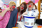 Pix: Shaun Flannery/shaunflanneryphotography.com...COPYRIGHT PICTURE>>SHAUN FLANNERY>01302-570814>>07778315553>>..19th March 2011...............Lakeside Village, Doncaster..Comic Relief Event..L-R Aime Ackroyd, Joe Worth, Rebecca Clark of Birthdays.