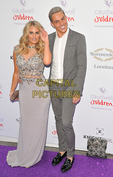 Danielle Armstrong &amp; Bobby Cole Norris at the Caudwell Children Butterfly Ball, Grosvenor House Hotel, Park Lane, London, England, UK, on Wednesday 22 June 2016.<br /> CAP/CAN<br /> &copy;CAN/Capital Pictures