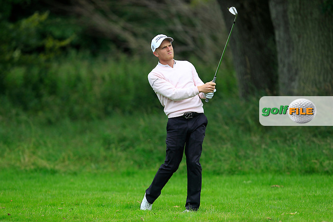 James Watts (ENG) on the 3rd fairway during Round 2 of the Northern Ireland Open in Association with Sphere Global &amp; Ulster Bank at Galgorm Castle Golf Club on Friday 7th August 2015.<br /> Picture:  Thos Caffrey / www.golffile.ie