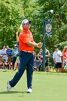 D.A. Points (USA) watches his tee shot on 11 during Sunday's final round of the PGA Championship at the Quail Hollow Club in Charlotte, North Carolina. 8/13/2017.<br /> Picture: Golffile | Ken Murray<br /> <br /> <br /> All photo usage must carry mandatory copyright credit (&copy; Golffile | Ken Murray)