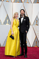 www.acepixs.com<br /> <br /> February 26 2017, Hollywood CA<br /> <br /> Cinematographer Linus Sandgren (R) arriving at the 89th Annual Academy Awards at Hollywood &amp; Highland Center on February 26, 2017 in Hollywood, California.<br /> <br /> By Line: Z17/ACE Pictures<br /> <br /> <br /> ACE Pictures Inc<br /> Tel: 6467670430<br /> Email: info@acepixs.com<br /> www.acepixs.com