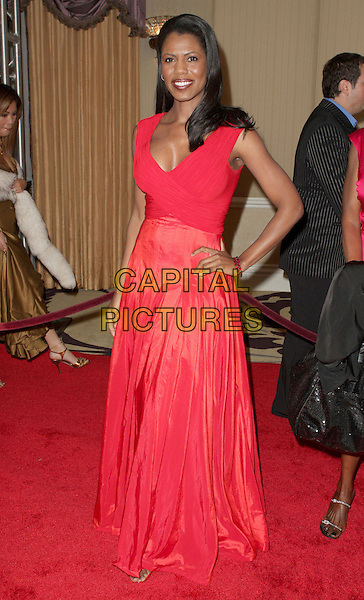 OMAROSA MANIGAULT-STALLWORTH.18th Annual Night of 100 Stars Gala celebrating the 80th Academy Oscar Awards held at the Beverly Hills Hotel, Beverly Hills, California, USA,.24 February 2008..full length red dress hand on hip.CAP/ADM/CH.?Charles Harris/Admedia/Capital PIctures
