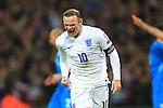 Wayne Rooney of England celebrates scoring the equalising goal - England vs. Slovenia - UEFA Euro 2016 Qualifying - Wembley Stadium - London - 15/11/2014 Pic Philip Oldham/Sportimage