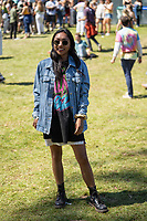 SAN FRANCISCO, CALIFORNIA - AUGUST 11: Fan Festival Fashion during the 2019 Outside Lands Music And Arts Festival at Golden Gate Park on August 11, 2019 in San Francisco, California. Photo: Alison Brown/imageSPACE/MediaPunch