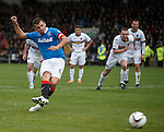 Lee McCulloch watches his penaty kick saved by keeper Danny Rogers