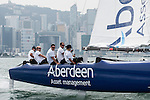 Aberdeen Extreme 40 sails in Vioctoria Harbour prior to the Hong Kong Around the Island Race on November 08, 2013 at Royal Hong Kong Yacht Club in Hong Kong, China. Photo by Xaume Olleros / The Power of Sport Images