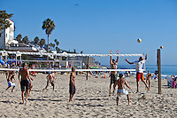 Beach Volleyball at Main Beach in Laguna Beach California
