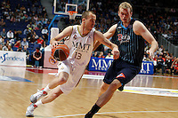 22.04.2012 SPAIN - ACB match played between Real Madrid vs Estudiantes at Palacio de los deportes stadium. The picture show Sergio Rodriguez (Spanish point guard of Real Madrid)