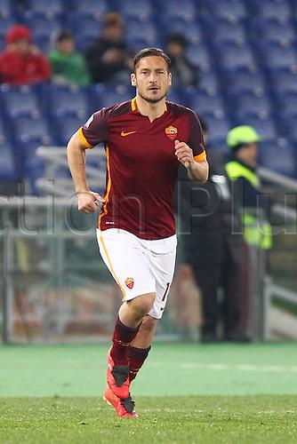04.03.2016. Stadium Olimpico, Rome, Italy.  Serie A football league. AS Roma versus Fiorentina. Francesco Totti in action