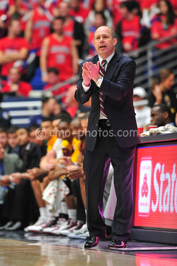 Jan 15, 2011; Tucson, AZ, USA; Arizona State Sun Devils head coach Herb Sendek claps his hands in the 2nd half of a game against the Arizona Wildcats at the McKale Center.  The Wildcats won the game 80-69.