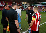Coin toss during the Professional Development League play-off final match at Bramall Lane Stadium, Sheffield. Picture date: May 10th 2017. Pic credit should read: Simon Bellis/Sportimage