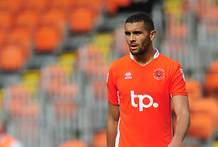 Blackpool's Colin Daniel<br /> <br /> Photographer Kevin Barnes/CameraSport<br /> <br /> Football - The EFL Sky Bet League Two - Blackpool v Exeter City - Saturday 6th August 2016 - Bloomfield Road - Blackpool<br /> <br /> World Copyright © 2016 CameraSport. All rights reserved. 43 Linden Ave. Countesthorpe. Leicester. England. LE8 5PG - Tel: +44 (0) 116 277 4147 - admin@camerasport.com - www.camerasport.com