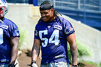 June 13, 2017: New England Patriots linebacker Dont'a Hightower (54) walks to the practice field at the New England Patriots organized team activity held on the practice field at Gillette Stadium, in Foxborough, Massachusetts. Eric Canha/CSM