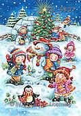 Interlitho, CHRISTMAS CHILDREN, paintings+++++,children,snowman,igloo,KL6007,#xk# Theresa