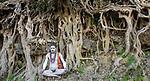 Naga Sadhu pilgrim during Kumbh Mela, Allahabad, India