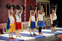 NWA Democrat-Gazette/ANDY SHUPE<br /> A group of &quot;Strong Kids&quot; perform Thursday, May 9, 2019, during a performance of Farnahan's Circus at The New School in Fayetteville. The school has been performing the circus for pre-kindergarten students for 27 years.