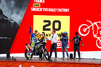 4th January 2020, Jeddah, Saudi Arabia;  20 Aubert Johnny fra, Sherco TVS, Sherco TVS Rally Factory, Bike Motul, during the departure ceremony of the 2020 Dakar in Jeddah, Saudi Arabia on January 4th 2020
