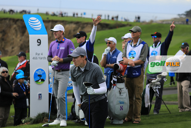 Matthew Fitzpatrick (ENG) during the first round of the AT&T Pro-Am, Pebble Beach Golf Links, Monterey, California, USA. 07/02/2019<br /> Picture: Golffile | Phil Inglis<br /> <br /> <br /> All photo usage must carry mandatory copyright credit (© Golffile | Phil Inglis)