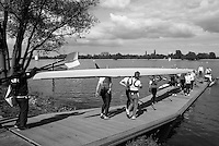 Brandenburg. GERMANY. GBR W8+ Boating at the <br /> 2016 European Rowing Championships at the Regattastrecke Beetzsee<br /> <br /> Wednesday  04/05/2016<br /> <br /> [Mandatory Credit; Peter SPURRIER/Intersport-images]