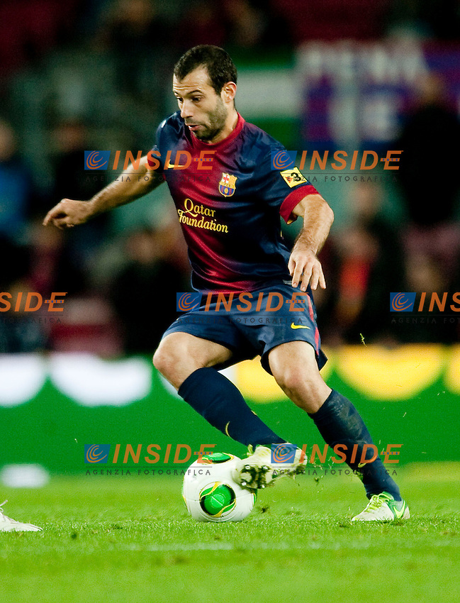 Javier Mascherano ( FC Barcelone ) ..Football Calcio 2012/2013 Coppa del Re.Barcelona Vs Cordoba.Foto Paco Largo / Panoramic / Insidefoto .ITALY ONLY
