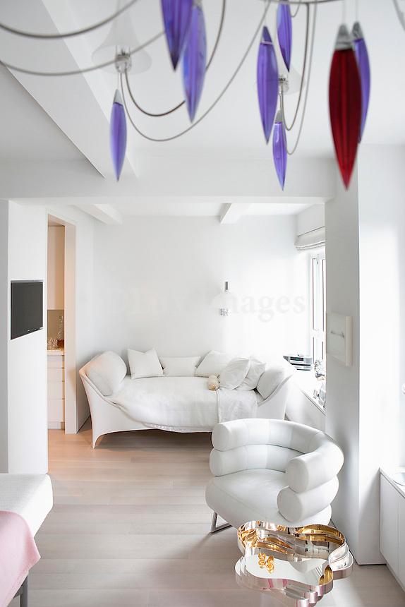 modern white sofa bed