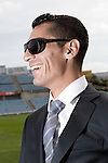 Getafe's Javier Casquero during sunglasses fashion shoot. October 07, 2010. (ALTERPHOTOS/Alvaro Hernandez)