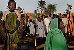 Refugees from the Darfur region of Sudan in camps in Ouadday province, eastern Chad. November 2006