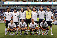 The U.S. starting eleven.  The U.S. Men's National Team defeated Trinidad & Tobago 3-0 at Toyota Park in Bridgeview, IL on September 10, 2008.
