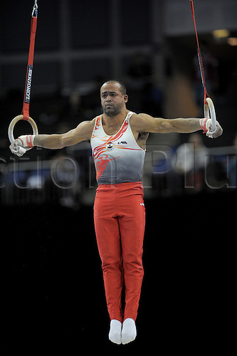 13th October 2009: World Gymnastics Champion ships at the O2 Arena London. Mens Qualifying Competition. Srour of Egypt. . Photo by Alan Edwards/Actionplus. ..