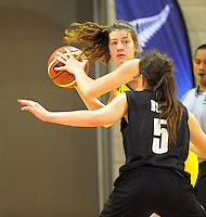 Gems forward Jessica Good in action during the 2012 FIBA Oceania Women's U19 Championship match between NZ Junior Tall Ferns and Australian Gems at Te Rauparaha Arena, Porirua, Wellington, New Zealand on Saturday, 22 September 2012. Photo: Dave Lintott / lintottphoto.co.nz