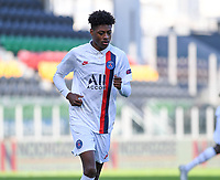 20191022 – OOSTENDE , BELGIUM : PSG's Thierno Balde pictured during a soccer game between Club Brugge KV and Paris Saint-Germain ( PSG )  on the third matchday of the UEFA Youth League – Champions League season 2019-2020 , thuesday  22 th October 2019 at the Versluys Arena in Oostende  , Belgium  .  PHOTO SPORTPIX.BE   DAVID CATRY