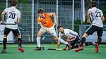 AMSTELVEEN -  Florian Fuchs (Bldaal)  met Valentin Verga (Adam)  tijdens de play-offs hoofdklasse  heren , Amsterdam-Bloemendaal (0-2).    COPYRIGHT KOEN SUYK