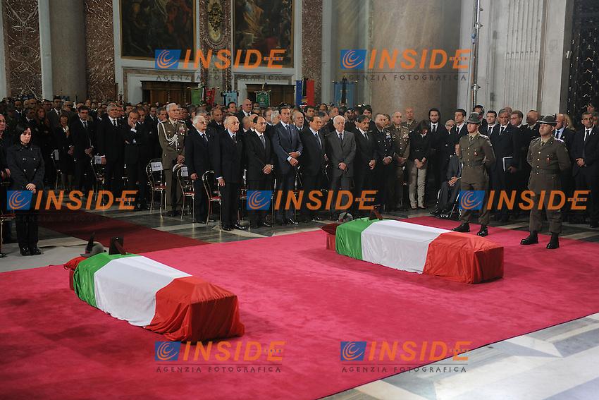 Roma 20/05/2010 Chiesa di santa Marina degli Angeli.<br />Funerali di Stato dei due alpini uccisi in un attentato in Afghanistan.<br />Photo Samantha Zucchi Insidefoto
