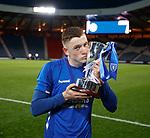 25.04.2019 Celtic v Rangers youth cup final: Rangers captain Daniel Finlayson