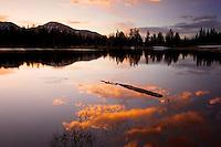 A peaceful sunrise on Mirror Lake, Uinta Mountains, Utah, June 2013
